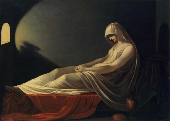 """Vestal condenada a muerte"", atribuído a Pietro Saja (circa 1800)"